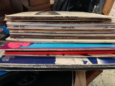 A large selection of records