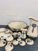 Royal Venton Ware washing set made by John Stevenson along with other items.