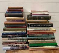 A selection of reference books of wildlife, country houses, English towns to include, Victorian