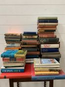 A selection of fiction and poetry books to include, Donne's Poetical Works, The Thousand Nights