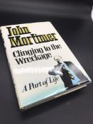 """""""Clinging to the Wreckage"""" Book by Sir John Mortimer."""