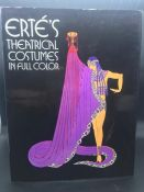 """""""Erté's Theatrical Costumes in Full Color"""" Limited edition book."""