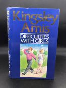"""""""Difficulties With Girls"""" Book signed by famous author, Kingsley Amis. First edition."""