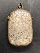 A Silver Vesta case, Birmingham Hallmark, JG makers mark