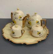 A Mid Century Tea Service on Tray.