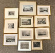 A Selection of eleven various etchings.