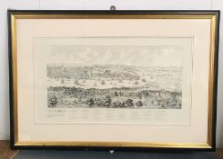 A Pair of London Framed River Maps showing Southwark and Westminster