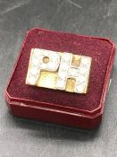 A 9 ct Gold Ring bearing the initials PH, (total weight 33.5g)
