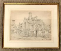 An Original pencil drawing of a country scene by William Fleetwod Varley (1785-1858) dated 1841