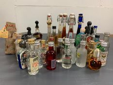 A Box of various alcohol miniatures, a range of brands and styles.