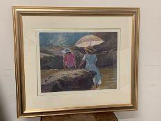 "Suzanne Sommer ""Summer Days"" oil framed"