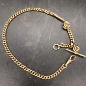 A 15 ct gold Albert chain (54g)