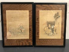 Two Antique Framed Pictures.