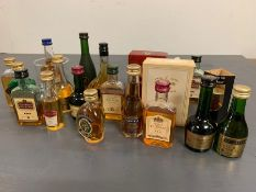 A Selection of various Cognac and Brandy miniatures
