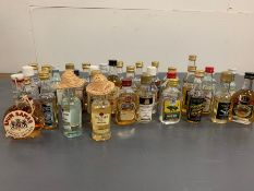 A Selection of various Rum miniatures, various distilleries and brands.