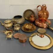 Selection of copper and brass
