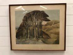 PAUL NASH 'Wood on the Downs' Original Lithograph