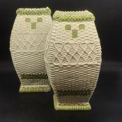 A pair of Austrian vases AF