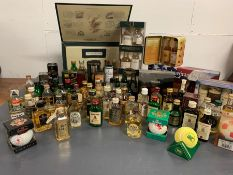 Large selection of Whisky miniatures including box sets, various distilleries and ages.
