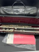 Yamaha Piccolo flute boxed with carry case