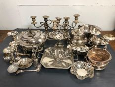 A Large Volume of silver plated items, various makers, ages and styles.