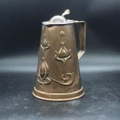 Art noveau copper jug by JS & SB