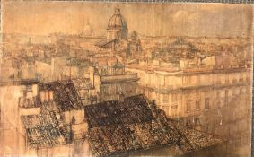 Daisy Vere Hunt (19th/20th Century) Panoramic View of Rome, watercolour
