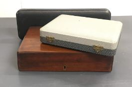 Two Boxes of Fish cutlery and a cased set of Mappin and Webb Fish servers