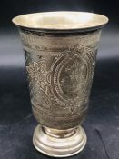 A Continental silver beaker