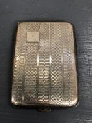 A Silver Vesta Case, matchbox cover, hallmarked.