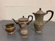 A Silver plated Tea Service by Garrod & Co, Regent Street