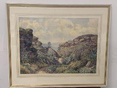 "Florence R. Walker watercolour ""Brimham Rocks Under Nidderdale"" signed lower right (67cm x 55cm)"