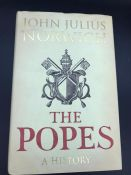 """""""The Popes"""" Book by John Julius Cooper, second viscount of Norwich. Signed by author."""