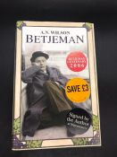 """""""Betjeman"""" Book signed by author, writer and journalist, A.N. Wilson."""