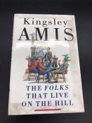 """""""The Folks That Live On The Hill"""" Book signed by famous author, Kingsley Amis. First Edition."""