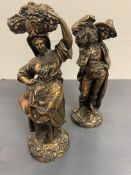 A pair of decorative figures