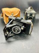 Two vintage cameras both by Kodak