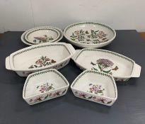 Seven pieces of Portmeirion tableware china