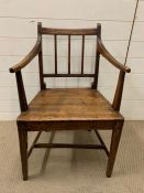 A wide armed chair