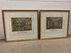 """A pair of prints depicting """"The Queen's Presence Chamber"""" and """"The Queen's Audience Chamber"""" at"""