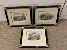 A group of prints depicting scenes from the 'Battle of Waterloo' and the 'Peninsular war',