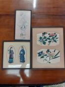 """A late19th/early 20th century Chinese school, """"Flowers and butterflies"""", """"Peacock and ducks"""" and """""""