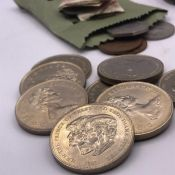 A Selection of coins to include crowns, sixpences etc.