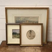 """A group of prints depicting """"Windsor Castle"""" c.1879, """"The Curfew tower"""" and a view probably around"""