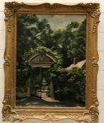 Fanny Bunand-Sevastos (1905-1998) French, The entrance to a garden, signed and dated 1944 lower
