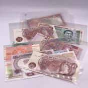 A Selection of uncirculated banknotes