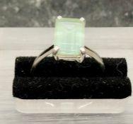 An Aquamarine ring