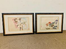 """After Yun Shouping, """"Magnolias"""" and other, a pair of prints from the 'Album of Flowers' at the"""