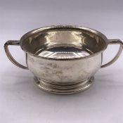 A Silver bowl, makers mark D & F , hallmarked Birmingham 1971-72 (152g)