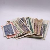A Selection of worldwide banknotes